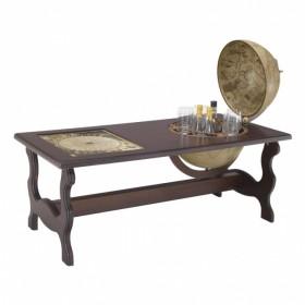 72.ANT Коктейльный стол с баром-глобусом, дерево